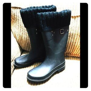 GAP Rain Boots w/ Knee Hi Socks